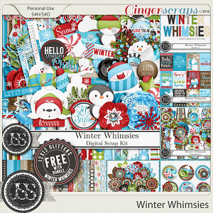 Winter Whimsies Digital Scrapbooking Bundled Collection