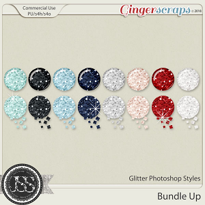 Bundle Up CU Glitter Photoshop Styles