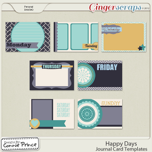 Happy Days - Journal Cards Temps (CU Ok)