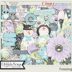 Freezing Digital Scrapbooking Kit