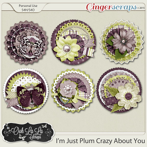 I'm Just Plum Crazy About You Cluster Seals
