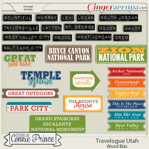 Travelogue Utah - Word Bits