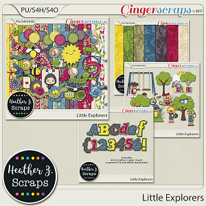 Little Explorers BUNDLE by Heather Z Scraps