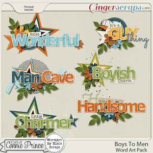 Boys To Men - Word Art