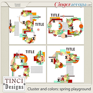 Cluster and colors: spring playground