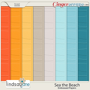 Sea the Beach Embossed Papers by Lindsay Jane