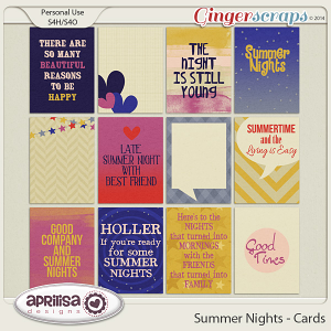 Summer Nights - Journal Cards