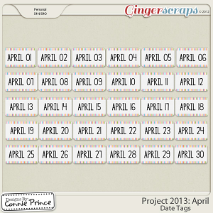 Project 2013: April - Dates