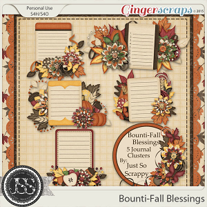 Bounti-Fall Blessings Journal Clusters