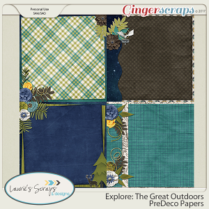 Explore: The Great Outdoors PreDeco Papers