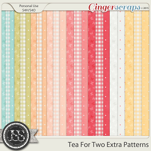 Tea For Two Extra Pattern Papers