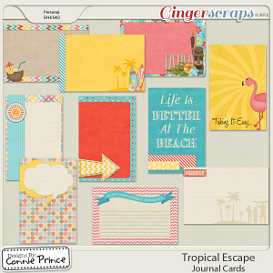 Retiring Soon - Tropical Escape - Journal Cards