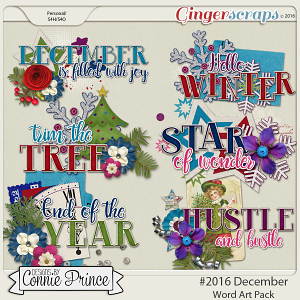 #2016 December - Word Art Pack