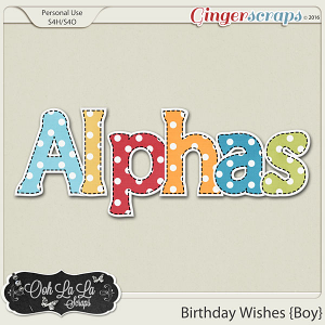 Birthday Wishes Boy Alphabets