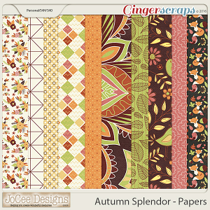 Autumn Splendour Papers by JoCee Designs