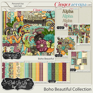 Boho Beautiful Digital Scrapbooking Collection