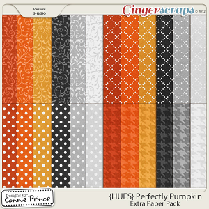 {HUES} Perfectly Pumpkin - Extra Papers