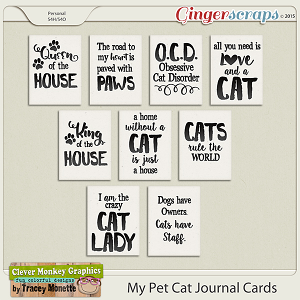 My Pet Cat Journal Cards by Clever Monkey Graphics