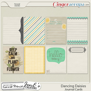 Dancing Daisies - Journal Cards