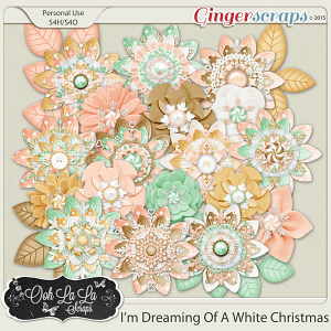 I'm Dreaming Of A White Christmas Layered Flowers