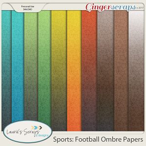 Sports: Football Ombre Papers