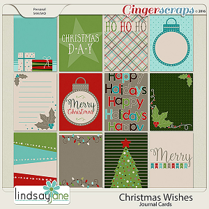 Christmas Wishes Journal Cards by Lindsay Jane