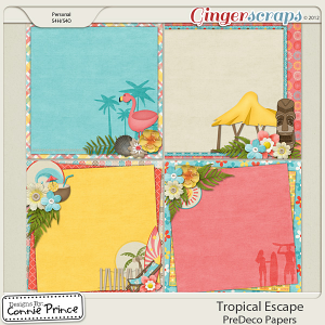 Retiring Soon - Tropical Escape - PreDeco Papers