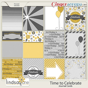 Time to Celebrate Journal Cards by Lindsay Jane