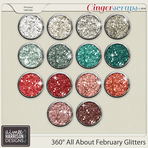 360°Life All About February Glitters by Aimee Harrison