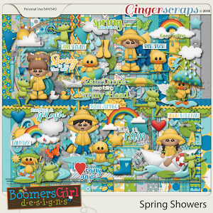 Spring Showers by BoomersGirl Designs