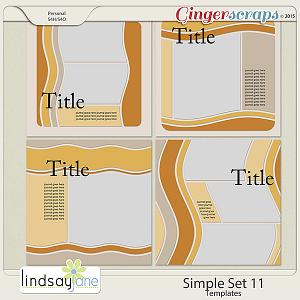 Simple Set 11 Templates by Lindsay Jane