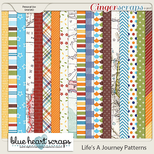 Life's A Journey Patterned Papers