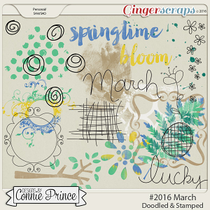 #2016 March - Doodles & Stamps