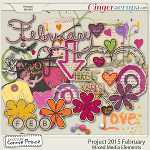 Project 2015 February - Mixed Media Elements