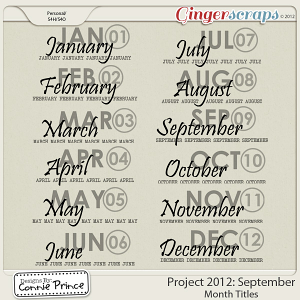 Retiring Soon - Project 2012: September - Month Titles