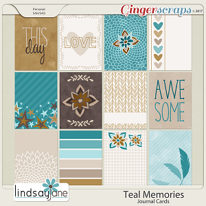 Teal Memories Journal Cards by Lindsay Jane
