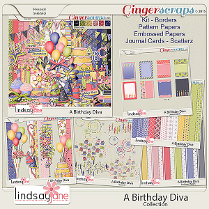 A Birthday Diva Collection by Lindsay Jane