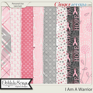 I Am A Warrior Tattered and Worn Papers