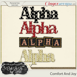 Comfort And Joy Alphabets