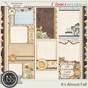 It's Almost Fall Journal and Pocket Scrapbooking Cards