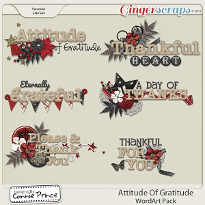 Retiring Soon - Attitude Of Gratitude - WordArt Pack