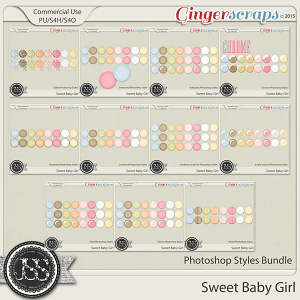 Sweet Baby Girl Photoshop Styles Bundle