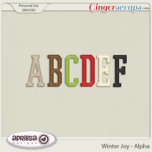 Winter Joy - Alpha by Aprilisa Designs.