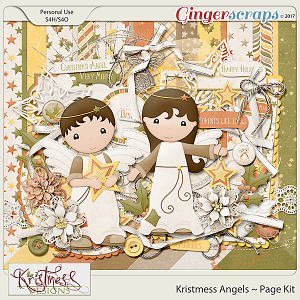 Kristmess Angels Page Kit