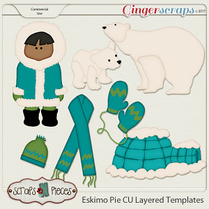 Eskimo Pie CU Layered Templates - Scraps N Pieces