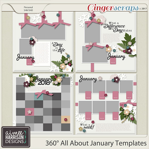 360° All About January Templates by Aimee Harrison
