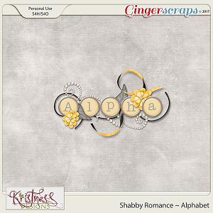 Shabby Romance Alphabet