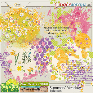 Summers' Meadow Splatters by Clever Monkey Graphics & Key Lime Digi Design