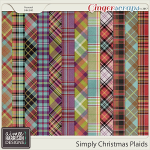 Simply Christmas Plaid Papers by Aimee Harrison