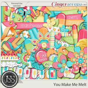 You Make Me Melt Digital Scrapbook Kit